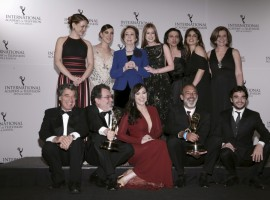 43rd International Emmy Award recognizes excellence in the television industry and corresponds to the Academy Award, the Tony Award, and the Grammy Award.