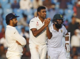 Ashwin is the now the highest wicket-taker of 2015 with 55 scalps in his kitty, ahead of England pacer Stuart Broad (51). The last time an Indian bowler had taken 50 or more Test wickets in a year was in 2008 when off-spinner Harbhajan Singh took 53.