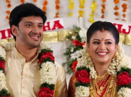 Malayalam actress Nimisha Suresh married Jijish Janardhanan held at Guruvayoor Temple in Kerala.