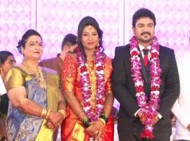 Kannada actor Mayur Patel and Kavya's Wedding Reception photos.