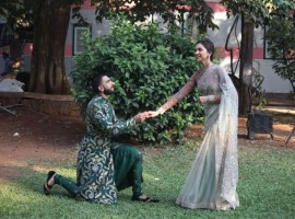 Bollywood actor Ranveer Singh and Actress Deepika Padukone promote 'Bajirao Mastani' on the sets of 'Swaragini'.