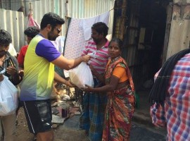 Actor Prasanna Venkatesan helped the victims of Chennai floods.