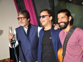 Amitabh Bachchan and Farhan Akhtar record a friendship song called Atrangi Yaari for the film Wazir.