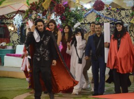 Bollywood actor Salman Khan's 50th birthday celebrated on the sets of Bigg Boss 9.