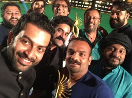 Prithviraj Sukumaran's 'Ennu Ninte Moideen' and Nivin Pauly's 'Premam' bagged many awards during the recently concluded IIFA Utsavam 2016. In the photo: Prithviraj, RS Vimal, Lal Jose, VIjay Babu, Tovino Thomas and other celebs.