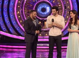 Bollywood actor Aditya Roy Kapur and Katrina Kaif promote Fitoor on Salman Khan's Bigg Boss 9 Finale.