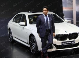 Sachin Tendulkar: The legendary cricketer who is also the brand ambassador of BMW India unveiled new BMW 7 Series.