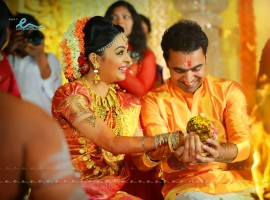Malayalam actress Radhika, who has played the heroine in 'Classmates' has entered wedlock with Abhil Krishna at a grand wedding ceremony held at the Camelot Convention Centre in Pathirappally, Alappuzha today (12 Febuary). The marriage of actress Radhika and Abhil Krishna was a private affair and it was attended by the couple family members and close friends.