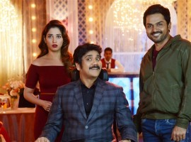 Oopiri is an upcoming Indian bilingual film directed by Vamsi Paidipally which is simultaneously being shot in Telugu and Tamil languages. Produced by Prasad V Potluri under the banner PVP cinema, Starring Akkineni Nagarjuna and Karthi playing the male leads, Tamannaah plays the female lead.