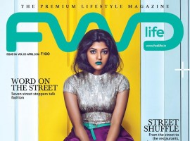Aparna Balamurali has been featured in the latest issue of FWD Life magazine. She looks different and bold on the cover of the FWD Life magazine, in a silver top, violet palazzo pants with green lipstick.