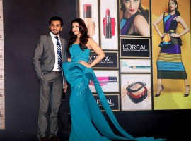 Bollywood actress Aishwarya Rai Bachchan launches L'Oreal Paris Cannes 2016 collection.