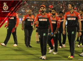 Leading from the front, skipper Virat Kohli (54 not out) smashed yet another half-century to guide his Royal Challengers Bangalore to a comfortable six-wicket victory over Delhi Daredevils in an Indian Premier League (IPL) match on Sunday. With the win, RCB climbed to second spot in points table with 16 points from 14 games and thus qualify for play-offs. They will now face Gujarat Lions in the first Qualifier 1 on May 24 in Bengaluru.
