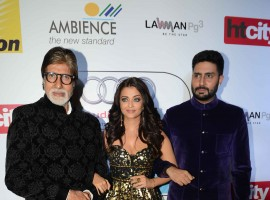 Akshay, Aishwarya Rai, Abhishek and others at HT Most Stylish 2016 Awards.