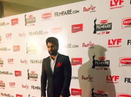 Dashing as ever, actor Allu Arjun takes the red carpet at the 63rd Britannia Filmfare Awards (South). While Anushka Shetty won the Best Actor (Female) Award for