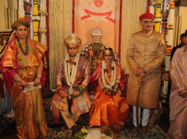 Pomp and splendour marked the royal wedding of the Wodeyar dynasty's titular king Yaduveer Krishnadatta Chamaraja with Rajasthani princess Trishika Kumari Singh at Amba Vilas Palace here on Monday.