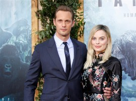 Alexander Skarsgard, Margot Robbie at The Legend of Tarzan premiere show.