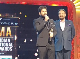 Allu Arjun wins Best Actor Critics Award for Rudhramadevi movie.