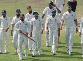 Star off-spinner Ravichandran Ashwin starred with a seven-wicket haul as India defeated West Indies by an innings and 92 runs on the fourth day of the first Test at the Sir Vivian Richards Cricket Stadium here on Sunday.