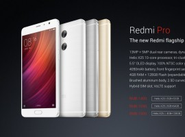 Xiaomi Redmi Pro aka Redmi Note 4 first look unveiled today. Redmipro comes in Gold, Silver and Dark Grey. Prices start from RMB 1499.