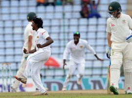 Sri Lanka wins a thrilling first Test in Pallekele by 106 runs, only their 2nd Test victory over Australia.