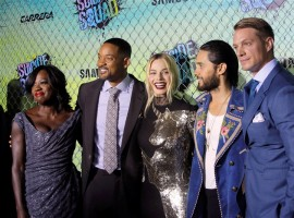 Celebs like Viola Davis, Will Smith, Margot Robbie, Jared Leto and Joel Kinnaman attend the world premiere of