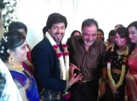 Punith Rajkumar, Ambareesh Yash and Radhika Pandit's engagement
