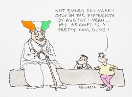 Cartoon on Independence Day