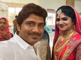 Malayalam singer Afsal's eldest daughter Mubeena has entered the wedlock with Sajad in a grand wedding ceremony on Sunday in Kochi.