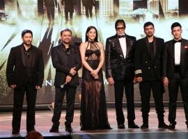 Manmeet Singh, Arshad Warsi, Riyaz Ganji, Gaurang Doshi, Amitabh Bachchan, Reshma Gangji, Anees Bazmee, Regina Cassandra, Harmeet Singh grace the launch of 'Aankhen 2'.