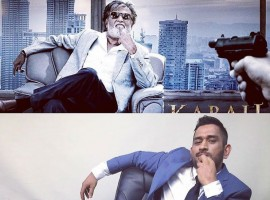 India's limited overs skipper Mahendra Singh Dhoni, in his latest photograph on Instagram, attempted to copy the pose of superstar Rajinikanth from his latest Tamil film