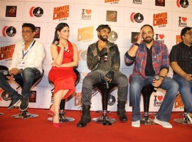 Celebs like Ranveer Singh, Tamannaah, Rohit Shetty, Milap, Ashish Patil and others at Ranveer Ching Returns launch event.