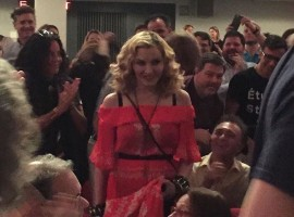 Singer Madonna surprised 400 fans at the 25th anniversery screening of the 1991 documentary film