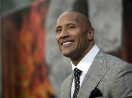 1. Dwayne Johnson is the world's highest paid actor this year with $64 million in earnings.