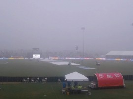 The second match of the two-match Twenty20 International (T20I) between India and the West Indies here on Sunday was called off due to rain, leading to the latter clinch the cricket series 1-0.