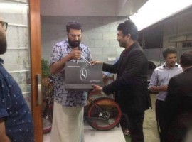 Dulquer Salmaan gifts dad Mammootty New