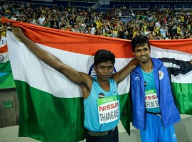 India's Mariyappan Thangavelu created history on Friday night by winning a gold medal in the men's high jump T-42 event at the Rio Paralympics.