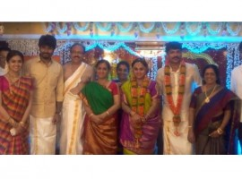 South Indian actress Keerthy Suresh at her sister Revathy's wedding.
