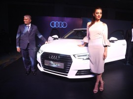 Actress Radhika Apte launches the Next Gen Audi A4 in Chennai. Audi, the German luxury car manufacturer, launched the all-new Audi A4 in all Audi dealerships across India simultaneously for the first time.