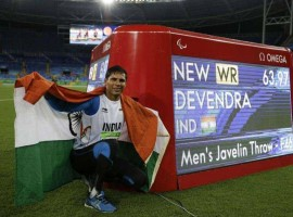 India's Devendra Jhajharia bettered his own world record to win gold in the men's javelin throw F46 event at the 2016 Rio Paralympics. Devendra won gold in the javelin event at the 2004 Athens Paralympics with a record throw of 62.15 metres, becoming only the second gold medallist at the Paralympics for his country, and improved upon it with an attempt of 63.97 metres at the Olympic Stadium (Engenhao) here on Tuesday.