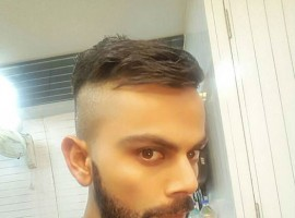 Indian cricket player Virat Kohli flaunts new hairstyle ahead of New Zealand series.