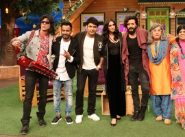 Riteish Deshmukh, Nargis Fakhri, Dharmesh Yelande promote 'Banjo' on the sets of The Kapil Sharma Show. The film is about the banjo players from Maharashtra and how this art has been neglected despite numerous youngsters involved in it. Directed by Ravi Jadhav and produced by Eros International.