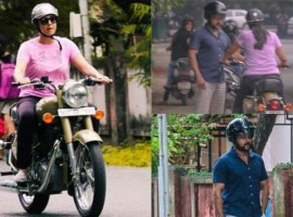 The popular Kollywood couple recently spotted on the roads at the Besant Nagar beach in Chennai, where actor Suriya was seen teaching her wife Jyothika to ride a bike. Suriya even shared some pics of Jothika riding a Royal Enfield bullet on Instagram.