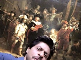 Bollywood superstar Shah Rukh Khan, who is currently in Amsterdam shooting for Imtiaz Alis film, gave his fans a glimpse of his date with the world famous Rijksmuseum. The actor, who was particularly drawn to a painting