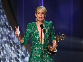 Sarah Paulson accepts the award for Outstanding Lead Actress In A Limited Series Or Movie for