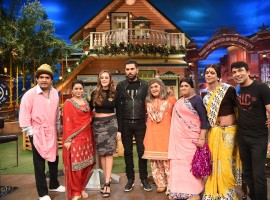 Yuvraj Singh and Hazel Keech On The Kapil Sharma Show