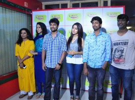Telugu movie Majnu Team at Radio Mirchi to promote their movie. Actor Nani, Actress Anu Emmanuel, Director Virinchi Varma, Priya Shri and graced the event.