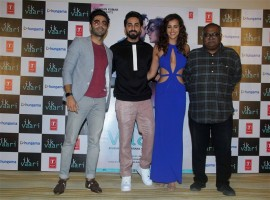 Celebs like Ayushmann Khurrana, Aisha Sharma, Apaarshakti Khurrana and others spotted at the launch of the song 'Ik Vaari'.