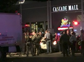 At least four persons were killed in a shooting at a mall in Washington on Friday night, police said. The shooter remains at large after opening fire at Cascade Mall in Burlington, Sgt. Mark Francis said on Twitter.