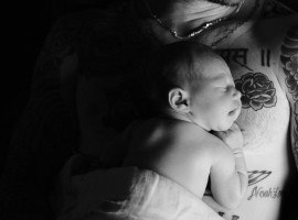 Singer Adam Levine and wife Behati Prinsloo have shared the first photograph of their newborn daughter online. They shared the photograph of Dusty Rose Levine on Instagram on Friday evening. The couple's three-day-old daughter is seen resting on her father's tattooed chest.