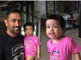 Indian Cricket Player MS Dhoni's daughter Ziva Latest Pictures.